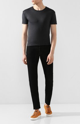 Мужская льняная футболка DANIELE FIESOLI темно-серого цвета, арт. DF 1235 | Фото 2