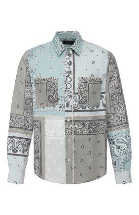 Мужская хлопковая рубашка AMIRI разноцветного цвета, арт. Y0M06472PD | Фото 1