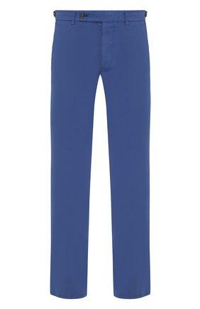 Мужской брюки из смеси хлопка и шелка ANDREA CAMPAGNA синего цвета, арт. SC/1 FIBB/BN0002BX | Фото 1