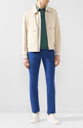 Мужской брюки из смеси хлопка и шелка ANDREA CAMPAGNA синего цвета, арт. SC/1 FIBB/BN0002BX | Фото 2