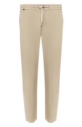 Мужской хлопковые брюки  BERWICH бежевого цвета, арт. SPIAGGIA/TS4842X | Фото 1