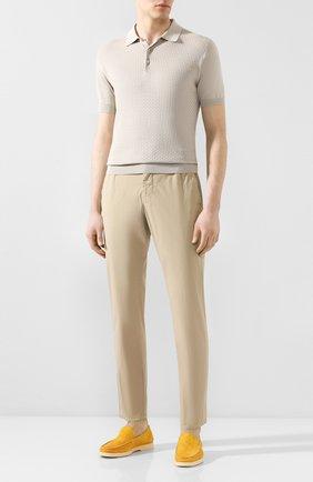 Мужской хлопковые брюки  BERWICH бежевого цвета, арт. SPIAGGIA/TS4842X | Фото 2