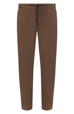 Мужской хлопковые брюки  BERWICH коричневого цвета, арт. SPIAGGIA/TS4842X | Фото 1