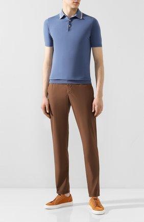 Мужской хлопковые брюки  BERWICH коричневого цвета, арт. SPIAGGIA/TS4842X | Фото 2