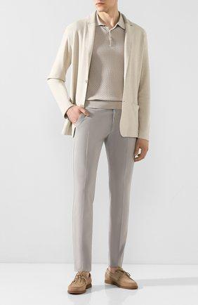 Мужской хлопковые брюки BERWICH светло-серого цвета, арт. M0RELL0/SN0007X | Фото 2
