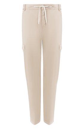 Мужские хлопковые брюки-карго ANDREA CAMPAGNA бежевого цвета, арт. SUB/PF0350X | Фото 1 (Материал внешний: Хлопок; Длина (брюки, джинсы): Стандартные; Силуэт М (брюки): Карго; Случай: Повседневный; Стили: Кэжуэл)