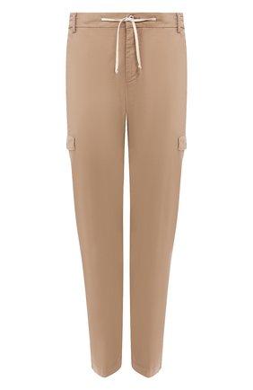 Мужские хлопковые брюки-карго ANDREA CAMPAGNA темно-бежевого цвета, арт. SUB/PF0350X | Фото 1 (Материал внешний: Хлопок; Длина (брюки, джинсы): Стандартные; Силуэт М (брюки): Карго; Случай: Повседневный; Стили: Кэжуэл)