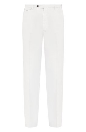 Мужской брюки из смеси хлопка и льна BERWICH белого цвета, арт. VULCAN0/AL0330X | Фото 1