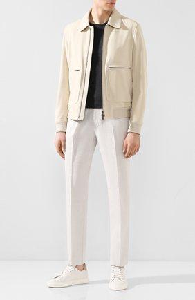 Мужской брюки из смеси хлопка и льна BERWICH белого цвета, арт. VULCAN0/AL0330X | Фото 2
