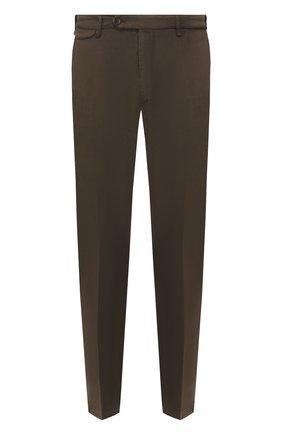 Мужской брюки из смеси хлопка и льна BERWICH коричневого цвета, арт. VULCAN0/AL0330X | Фото 1
