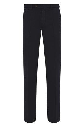 Мужской брюки из смеси хлопка и льна BERWICH темно-синего цвета, арт. VULCAN0/AL0330X | Фото 1