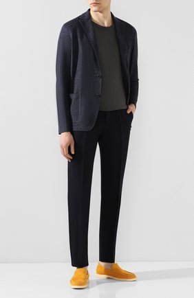 Мужской брюки из смеси хлопка и льна BERWICH темно-синего цвета, арт. VULCAN0/AL0330X | Фото 2