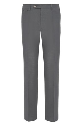 Мужской брюки из смеси льна и хлопка BERWICH темно-серого цвета, арт. VULCAN0/AN1226 | Фото 1
