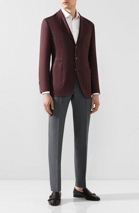 Мужской брюки из смеси льна и хлопка BERWICH темно-серого цвета, арт. VULCAN0/AN1226 | Фото 2