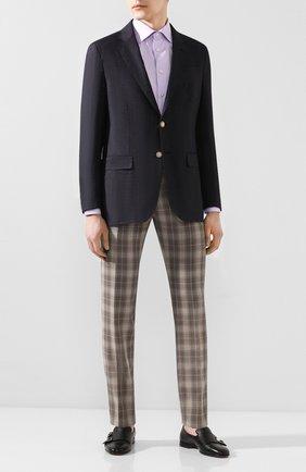 Мужской шерстяные брюки BERWICH коричневого цвета, арт. VULCAN0/AN1294 | Фото 2