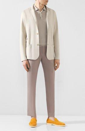 Мужской хлопковые брюки BERWICH бежевого цвета, арт. VULCAN0/CN101X | Фото 2