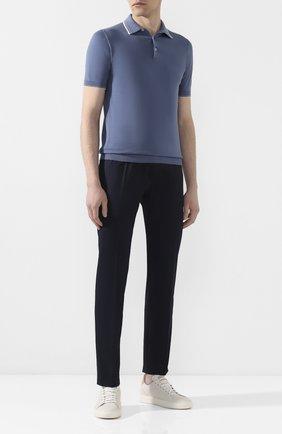 Мужской хлопковые брюки BERWICH темно-синего цвета, арт. VULCAN0/CN101X | Фото 2