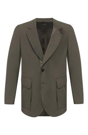 Мужская куртка TOM FORD хаки цвета, арт. BU005/TF0420 | Фото 1