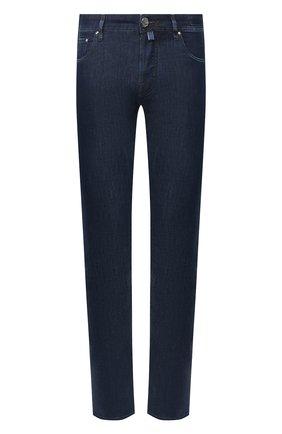 Мужские джинсы JACOB COHEN темно-синего цвета, арт. J688 LUXURY C0MF 00517-W1/53 | Фото 1