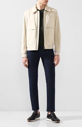 Мужские джинсы JACOB COHEN темно-синего цвета, арт. J688 LUXURY C0MF 00517-W1/53 | Фото 2