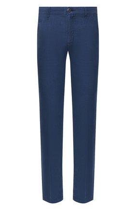 Мужской льняные брюки JACOB COHEN синего цвета, арт. B0BBY 01832-S/53 | Фото 1
