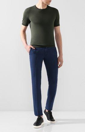 Мужской льняные брюки JACOB COHEN синего цвета, арт. B0BBY 01832-S/53 | Фото 2