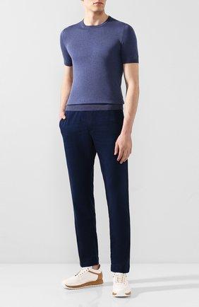 Мужской хлопковые брюки JACOB COHEN темно-синего цвета, арт. CARL C0MF R 01846-W1/53 | Фото 2