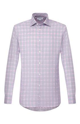 Мужская сорочка из смеси хлопка и льна ETON сиреневого цвета, арт. 1000 01199 | Фото 1