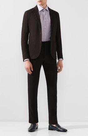 Мужская сорочка из смеси хлопка и льна ETON сиреневого цвета, арт. 1000 01199 | Фото 2