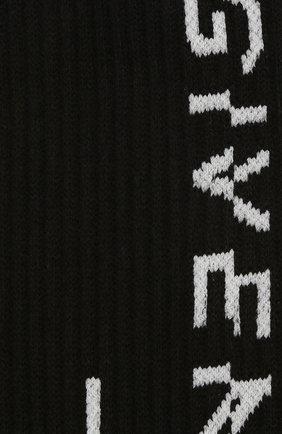 Мужские хлопковые носки GIVENCHY черного цвета, арт. BMB01B4037 | Фото 2
