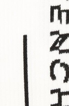 Мужские хлопковые носки GIVENCHY черно-белого цвета, арт. BMB01B4037 | Фото 2