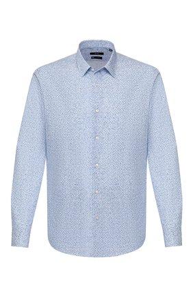 Мужская хлопковая сорочка BOSS голубого цвета, арт. 50428304 | Фото 1