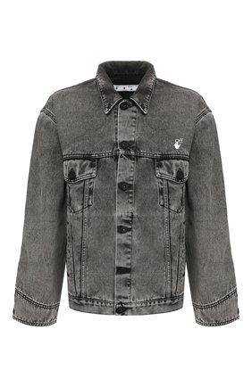 Мужская джинсовая куртка OFF-WHITE серого цвета, арт. 0MYE051T20DEN0010801 | Фото 1