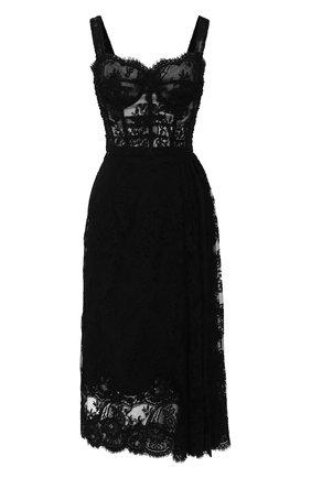 Женское платье DOLCE & GABBANA черного цвета, арт. F6G8FT/HLMWH | Фото 1