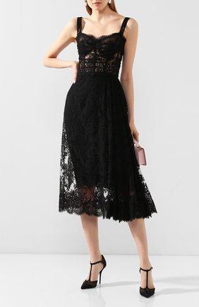 Женское платье DOLCE & GABBANA черного цвета, арт. F6G8FT/HLMWH | Фото 2