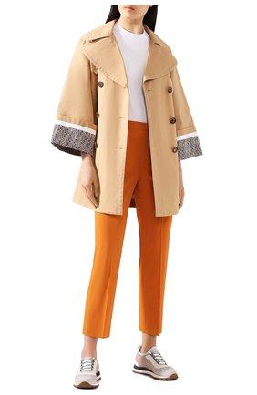 Женские хлопковые брюки LORO PIANA оранжевого цвета, арт. FAL1273 | Фото 2