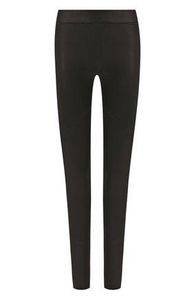 Женские кожаные леггинсы ISABEL BENENATO черного цвета, арт. DL11S20 | Фото 1