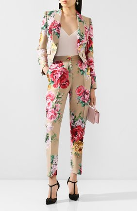Женские брюки DOLCE & GABBANA бежевого цвета, арт. FTAM2T/HJMJ3 | Фото 2