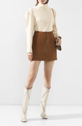 Женская джинсовая рубашка ISABEL MARANT бежевого цвета, арт. HT1746-20E010I/ESPERA | Фото 2