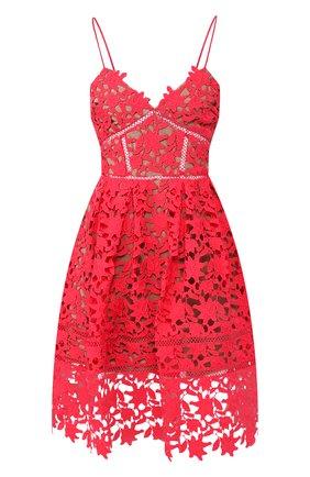 Женское платье SELF-PORTRAIT фуксия цвета, арт. SS20-119W | Фото 1