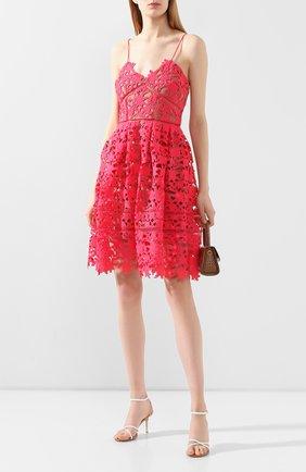 Женское платье SELF-PORTRAIT фуксия цвета, арт. SS20-119W | Фото 2