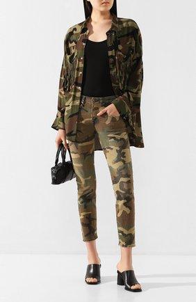 Женские джинсы R13 хаки цвета, арт. R13W0086-078B | Фото 2