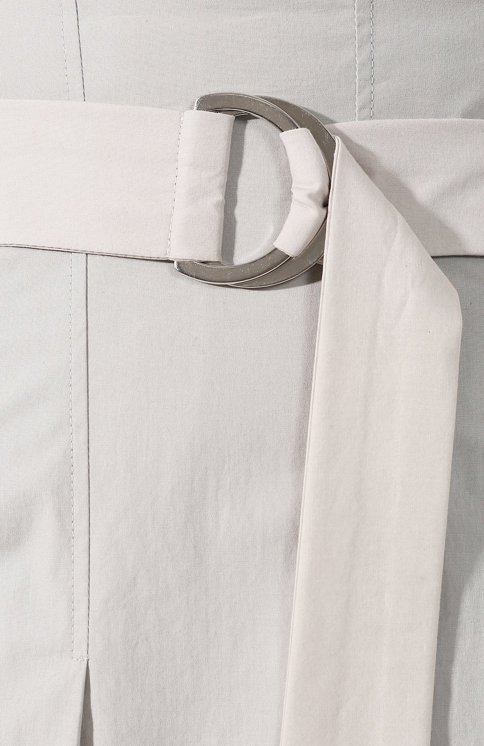 Женская хлопковая юбка LORENA ANTONIAZZI светло-серого цвета, арт. E2005G0016/3193 | Фото 5 (Женское Кросс-КТ: Юбка-одежда; Материал внешний: Хлопок; Длина Ж (юбки, платья, шорты): Миди)