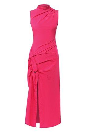 Женское платье-миди OFF-WHITE фуксия цвета, арт. 0WDB249S20FAB0013200 | Фото 1