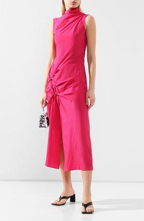Женское платье-миди OFF-WHITE фуксия цвета, арт. 0WDB249S20FAB0013200 | Фото 2