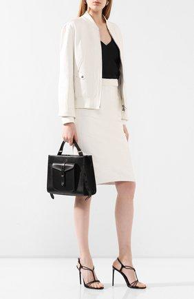 Женская кожаная юбка TOM FORD белого цвета, арт. GCL803-LEX251 | Фото 2