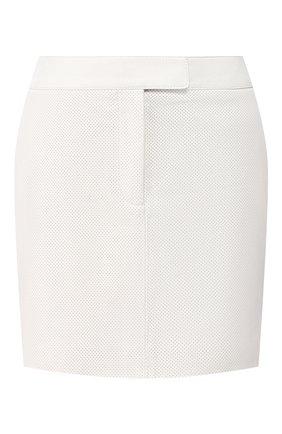 Женская кожаная юбка TOM FORD белого цвета, арт. GCL799-LEX251 | Фото 1