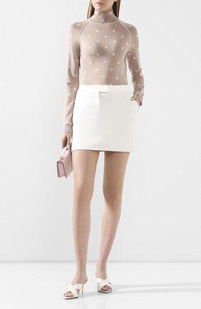 Женская кожаная юбка TOM FORD белого цвета, арт. GCL799-LEX251 | Фото 2