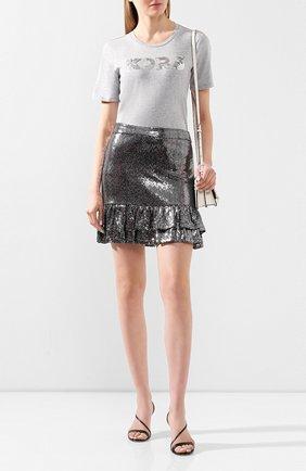 Женская юбка MICHAEL MICHAEL KORS серебряного цвета, арт. MH97F30D3B   Фото 2