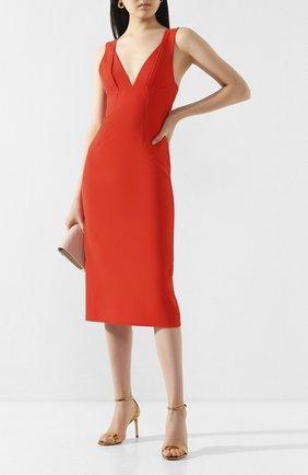 Женское платье VICTORIA BECKHAM красного цвета, арт. 1120WDR000580C | Фото 2